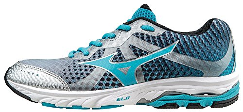Mizuno Shoes Running Officially Wave Elevation WOS J1GL141766 Argento Celeste Nero Size 41 SHIPPED FROM ITALY