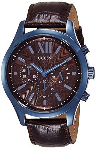 Guess W0789G2 - Reloj con Correa de Piel, para Hombre, Color marrón/Negro: Amazon.es: Relojes