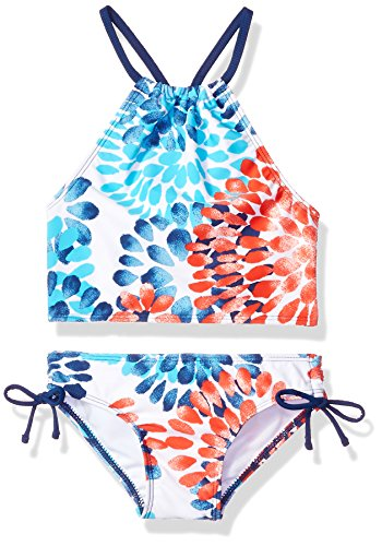 Kanu Surf Little Girls' Daisy Beach Sport Halter Tankini 2-Piece Swimsuit, Red/White/Blue, 4 ()
