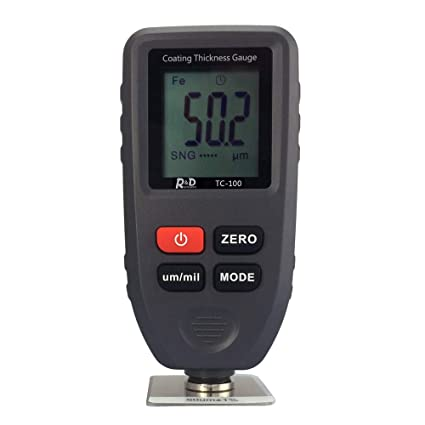 KKmoon TC-100 medidor de espesor de recubrimiento de pintura digital Medidor de espesor con