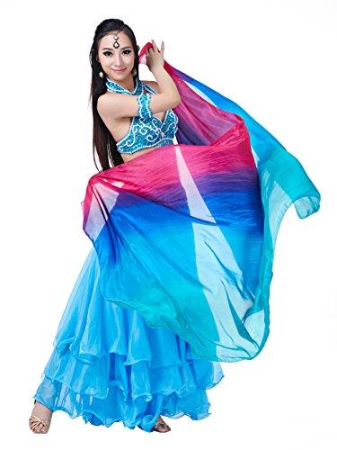 Professional Turkish Belly Dance Costumes (Elegant Pure Silk Professional Belly Dance Veils Scarf Big Shawl Black Friday Idea(78