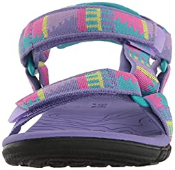 Teva Girls\' Hurricane 3 Sandal, Peaks Purple/Multi, 7 M US Toddler
