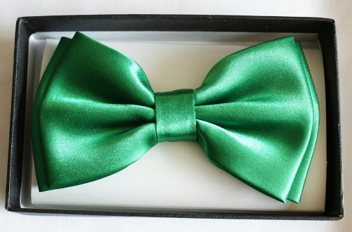 Brand New Awesome Silk Feel Shine Green Mens Tuxedo BOW TIE
