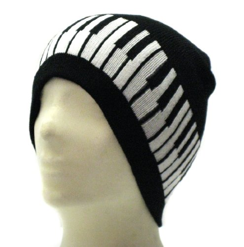 Price comparison product image Music Piano Keyboard Beanie Ski Hat Cap