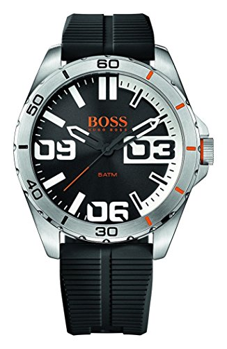BOSS-Orange-Mens-Berlin-Quartz-Stainless-Steel-and-Rubber-Casual-Watch-ColorBlack-Model-1513285