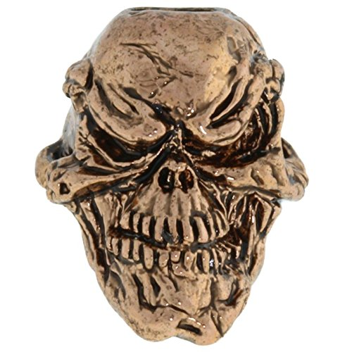 Jig Pro Shop Grins Skull Paracord/Lanyard Bead for by Schmuckatelli Co. (Antique ()