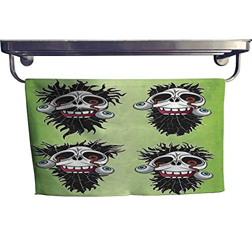 warmfamily Quick-Dry Towels Halloween Scary Skull with Eyes Coming Out Design Vector Illustration Towel W 14