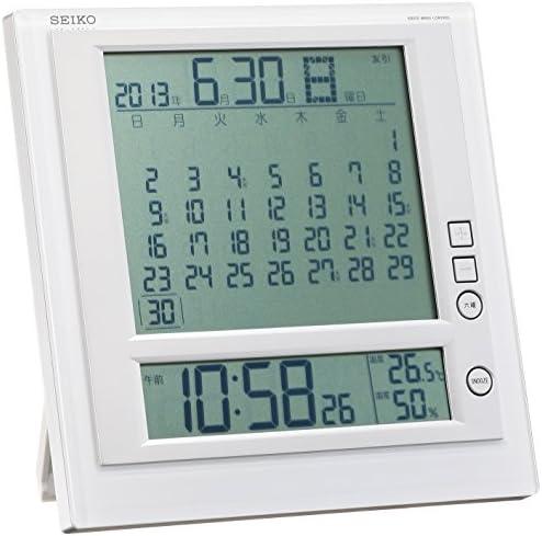 セイコークロック 掛け時計 置時計 兼用 マンスリーカレンダー機能 六曜表示 デジタル 電波 目覚まし時計 SQ422W SEIKO