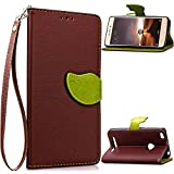 Xiaomi Redmi 3s Case,Gift_Source [Kickstand] [Leaf Style] Magnetic Snap Case Premium Wallet Case Built-in Card...