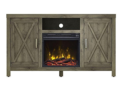 Lawson Electric Fireplace Media Console, Spanish Gray