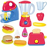Joyin Toy Assorted Kitchen Appliance Toys with Mixer, Blender and Toaster Play Kitchen Accessories
