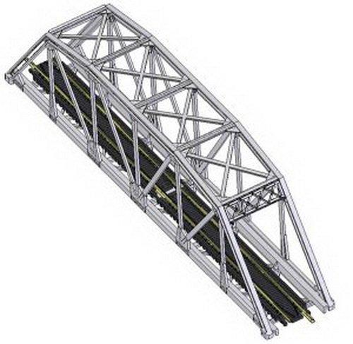 Atlas 2570 N KIT Code 80 Through Truss Bridge, Black
