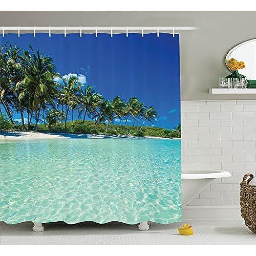 Ocean Shower Curtains: Amazon.com on bedroom underwater, bathroom art underwater, bathroom under the sea, living room underwater,