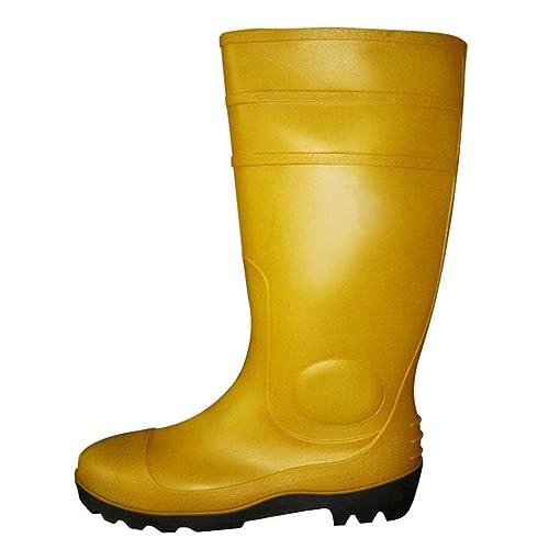 c83598f0f Daytwork Unisex Hombre Botas Lluvia Impermeables Caucho - Botas de Agua  Seguridad Calzado de Trabajo Puntera de Acero Entresuela de Acero  Resistente a Las ...