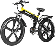 ZPAO-ZP1000 26-inch Fat tire Electric Bicycle 48V 1000W Motorcycle Snow Electric Bicycle and 21-Speed Mountain