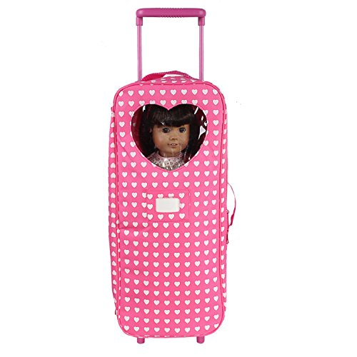 18 Inch Doll Travel Carrier Trolley With Foldable Bed And