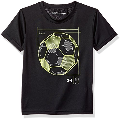 Under Armour Little Boys' Wired Soccer Short Sleeve T-Shirt, Black, 5 (Under Football T-shirt Armour)