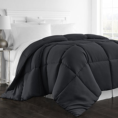 Beckham Hotel series 1300 Series - All Season - Luxury Goose down recommended Comforter - Hypoallergenic - Full/Queen - Black Black Friday & Cyber Monday 2018