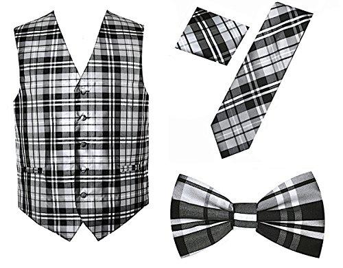 4pc Plaid Tuxedo Vest ()