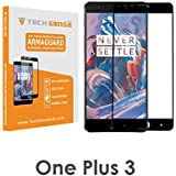 Tech Sense Lab Oneplus 3 / Oneplus 3T Edge To Edge Premium Tempered Glass Screen Protector (9H) By Tech Sense Lab - For One Plus 3 & One Plus 3T (Black)