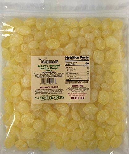 Claeys Lemon Sanded Candy Drops, 2 Pound