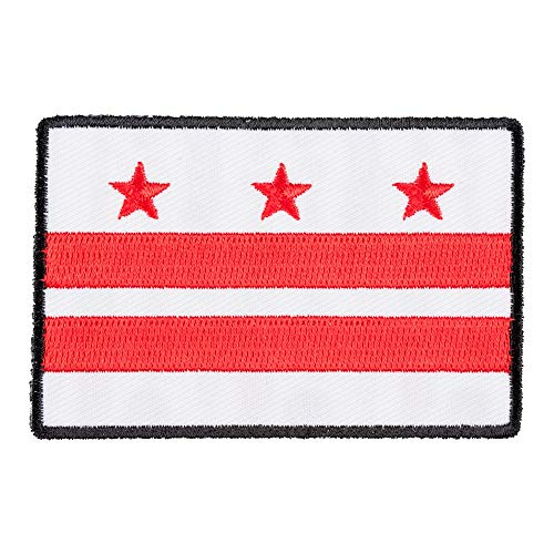 (Washington DC Flag Patch, District of Columbia United States Patches)