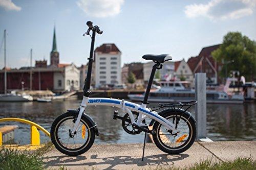 AWN Bicicleta plegable de 16 pulgadas de aluminio 1 velocidad: Amazon.es: Deportes y aire libre