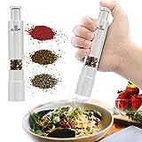 Mini Pepper Grinder and Travel Salt, Grind Gourmet Original Pump & Grind Travel Gadgets, Spice Grinder, Pepper Mill, Small Salt Pepper Grinder,