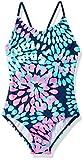 Kanu Surf Little Girls' Daisy Beach Sport 1-Piece Swimsuit, Navy, 6