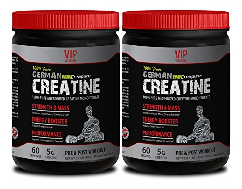 Energy enhancer - GERMAN CREATINE POWDER - MICRONIZED CREATINE MONOHYDRATE CREAPURE 300G 60 SERVINGS - Creatine creapure monohydrate