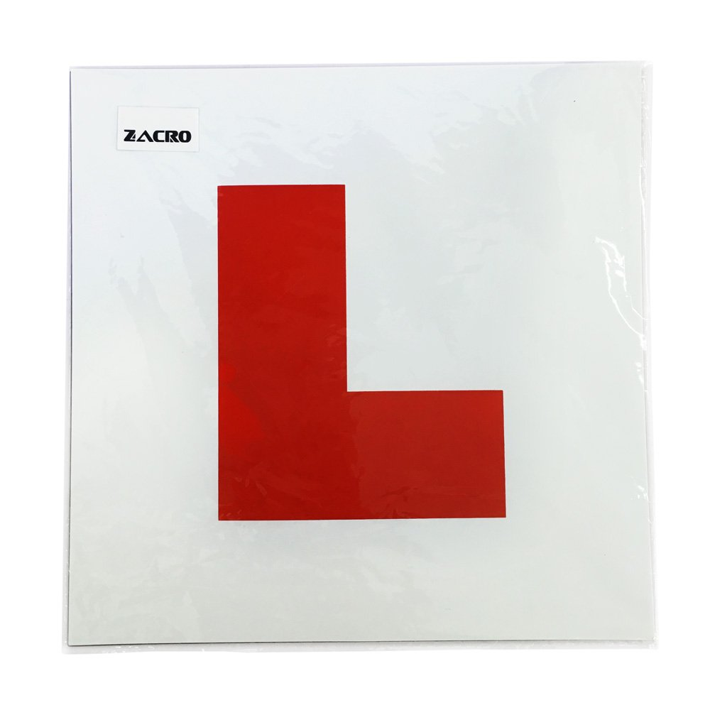 Perfect Choice for Driving Security Zacro Fully Magnetic L Plates for New Drivers 2 Pack Learner Plate