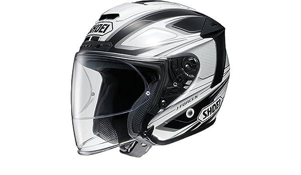 Amazon.com: Shoei bike helmet jet J-FORCE4 BRILLER (Briey) TC-6 (WHITE / BLACK) L (59cm): Automotive