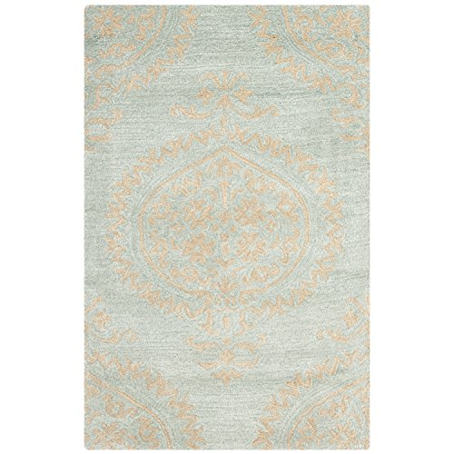 Safavieh Soho Collection SOH703A Handmade Blue and Beige Premium Wool Area Rug (2' x 3') ()