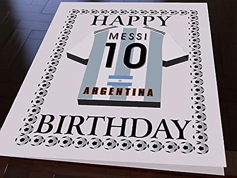 INTERNATIONAL WORLD CUP de fútbol camisa Tarjetas de cumpleaños - cualquier nombre, cualquier número, cualquier equipo - de forma gratuita! Argentina ...