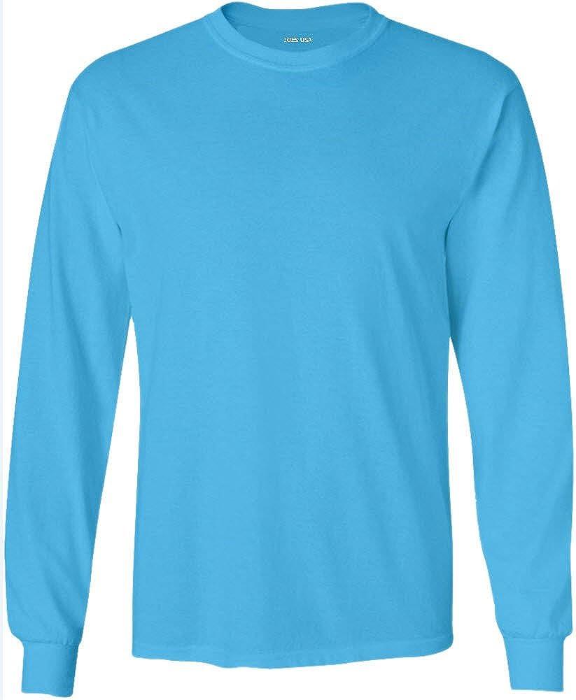 Big /& Tall Joes USA Mens Long Sleeve Heavyweight Cotton T-Shirts in Regular