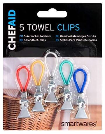 Torchon Clips Cuisine Pinces Titulaire Hanger pack de 10
