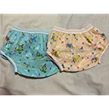 Diaper Potty Toilet Training Toddler Underpants Pull up Plastic Mess Free Washable Cloth Cotton Set