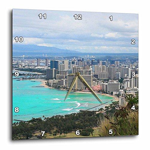 3dRose Cities Of The World - Waikiki Beach In Honolulu, Hawaii - 10x10 Wall Clock - Waikiki In Outlets