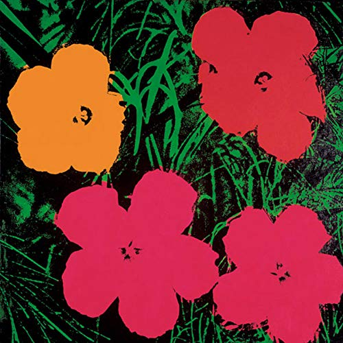 Posters: Andy Warhol Poster Art Print - Flowers, C.1964 (1 Red, 1 Yellow, 2 Pink) (14 x 14 inches) Andy Warhol Flower Prints