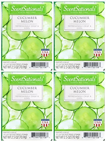 ScentSationals Cucumber Melon Scented Wax Cubes - 4-Pack