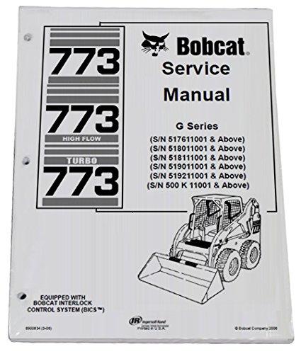 Bobcat 773 G Series Skid Steer Complete Shop Service Manual - Part Number # 6900834