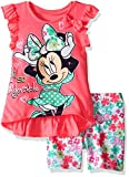 Disney Baby Girls' Minnie Mouse Bike Short Set with Top, Hot Pink, 24 Months
