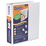 "QuickFit Quick Fit Presentation Binder - 2"" Binder Capacity - Letter - 8 1/2"" x 11"" Sheet Size - Round Ring Fastener - Internal Pocket(s) - White - Recycled - 1 / Each"