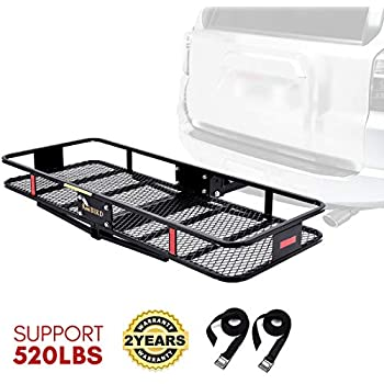 27fa0dcfde69 Amazon.com: Leader Accessories Hitch Cargo Carrier With Stand ...