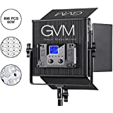 GVM Led Video Lights Panel with Memory Function Bi-color 2300k-6800k Photography Video Lighting kit CRI97+ TLCI97+Studio YouTube Outdoor Durable metal housing Unique Cooling System 896PCS 60W