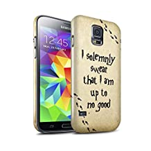STUFF4 Gloss Hard Back Snap-On Phone Case for Samsung Galaxy S5/SV / Marauders Map Design / School Of Magic Collection