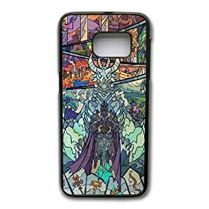 Custom made Case,World of WarCraft-Stained Glass PC Plastic Cell Phone Case for Samsung Galaxy S7,Black Case With Screen Protector (Tempered Glass) Free S-6622425