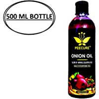 PEECURE Onion Hair Growth Oil 500 ML With Essential Hair Treatment Oil with Rose oil,Argan, Bhringraj, Hibiscus,Amla, Olive,Coconut Oils