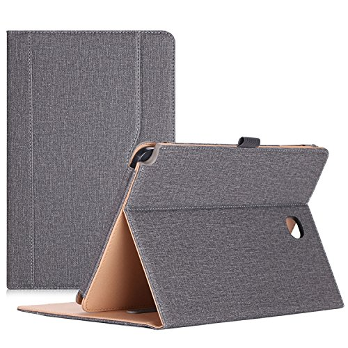 ProCase Samsung Galaxy Tab A 8.0 Case, Standing Cover Folio Case for 2015 Galaxy Tab A Tablet (8.0 Inch, SM-T350 P350), with Multiple Viewing Angles, Document Card Pocket - Grey