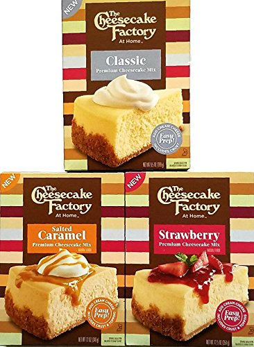 Cheesecake Factory   Pack Of 3   Premium Cheesecake Mix   Classic  Salted Caramel  Strawberry